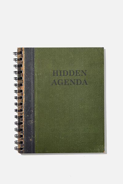 A5 Campus Notebook Recycled, HIDDEN AGENDA