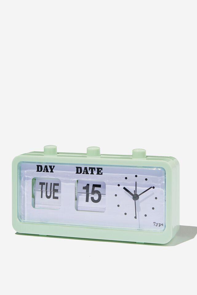 Retro Flip Clock, SPRING MINT