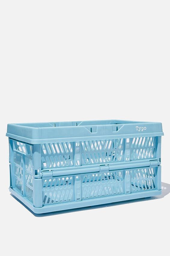 Large Foldable Storage Crate, DENIM BLUE
