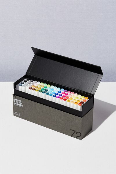 Artists  Dual Nib Marker 72Pk, MULTI