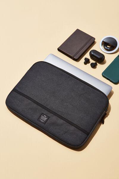 Take Me Away 13 Inch Laptop Case Cvs, WASHED BLACK