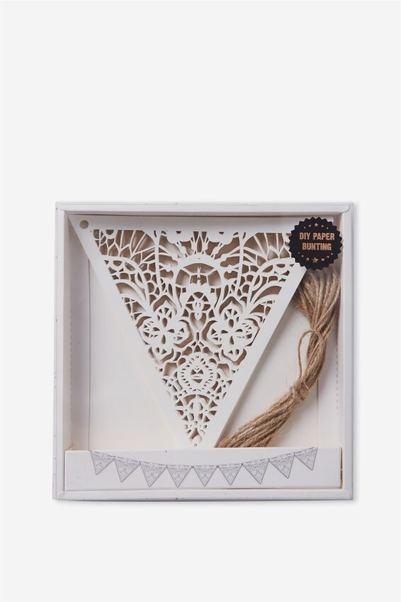 Diy Premium Bunting, DIE CUT WHITE LACE