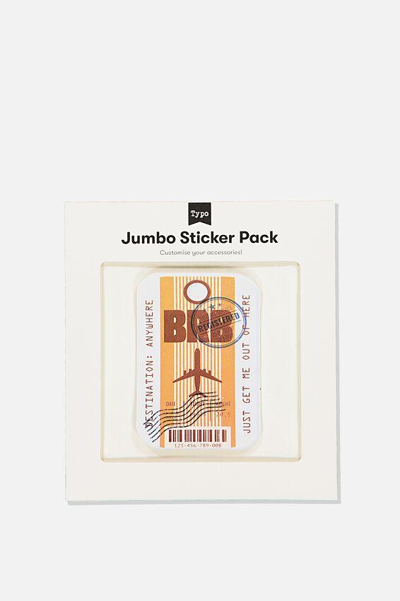 Jumbo Sticker, BRB