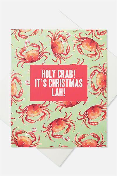 2018 Christmas Card, HOLY CRAB