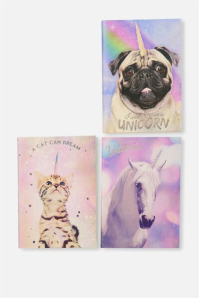 3Pk A6 Notebooks, ANICORNS