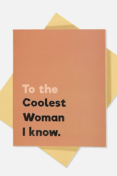 Blank Card, COOLEST WOMAN I KNOW RUST