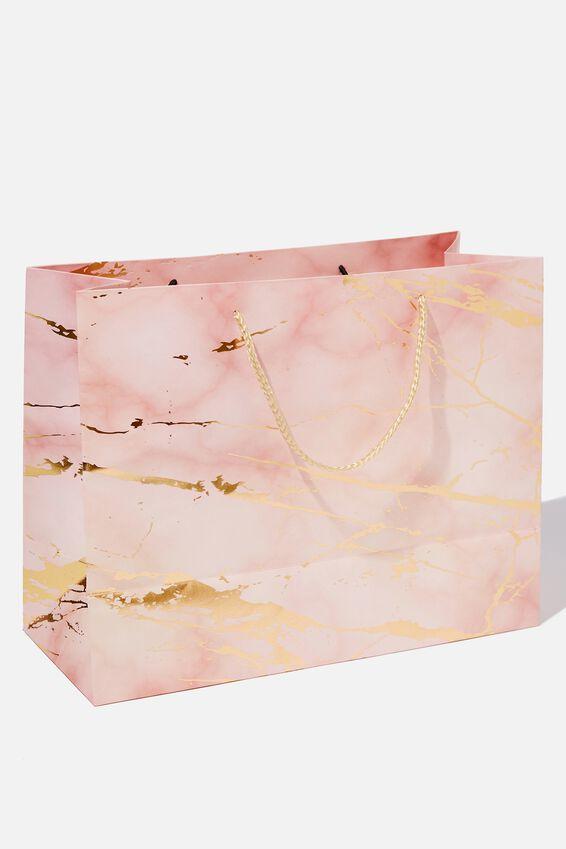 Stuff It Gift Bag - Medium, MARBLE PINK GOLD