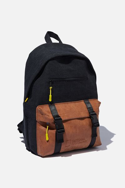 Austin Backpack, LCN NG BLACK AND YELLOW