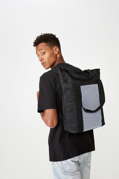 Uni Convertible Tote Bag, BLACK & BLUE