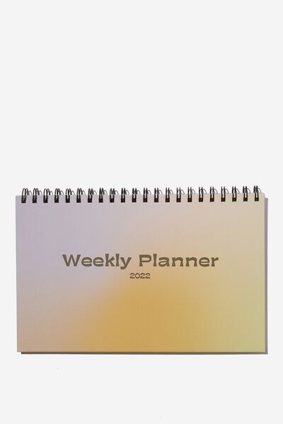 2022 Wide Desk Calendar, SOLARISED