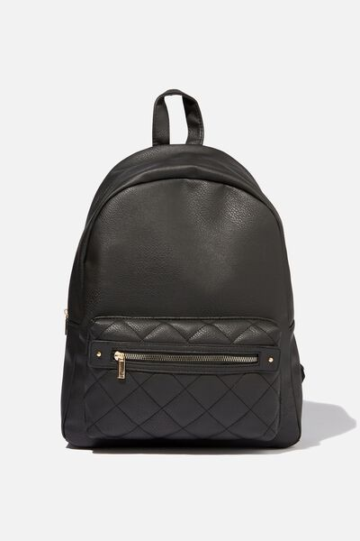 Commuter Backpack, BLACK QUILTED