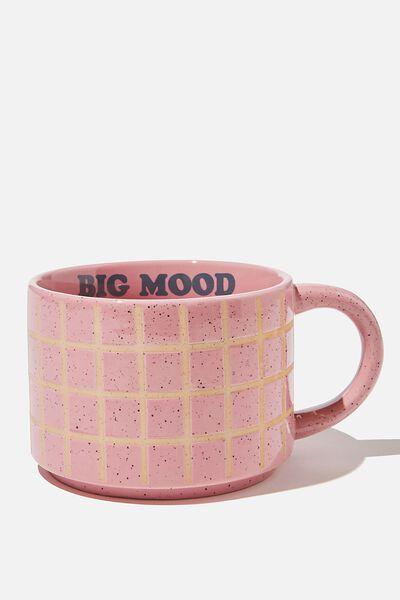 Big Hit Mug, PINK GRID