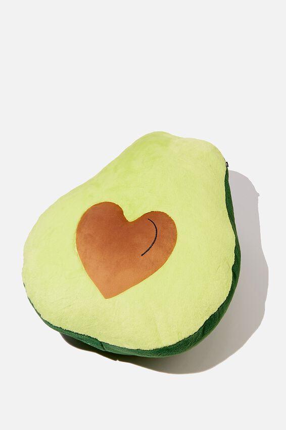 Large Get Cushy Cushion, HEART AVOCADO