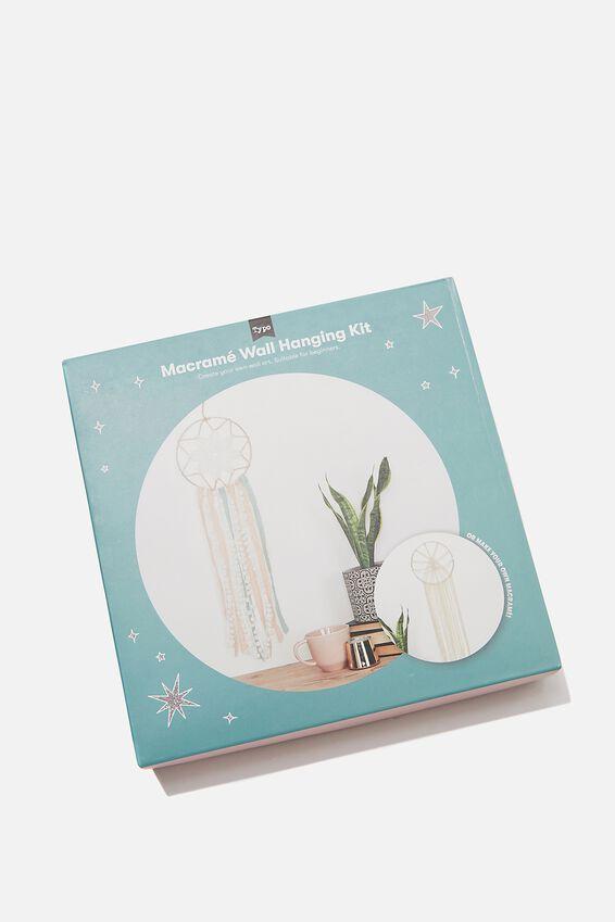 Macrame Dream Catcher Kit, NATURAL PINK GREEN