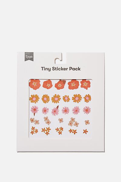 Tiny Sticker Pack, FLOWERS