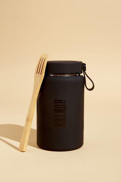 Explorer Thermal Flask Personalised, BLACK