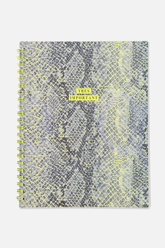 A4 Campus Notebook - Rec, SNAKESKIN TRES IMPORTANT