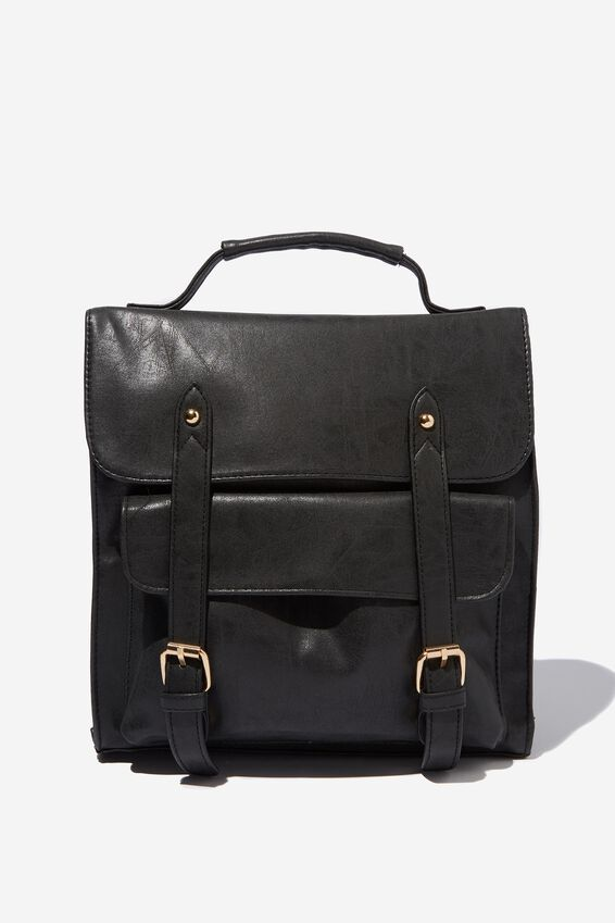 Buffalo Satchel Backpack, BLACK