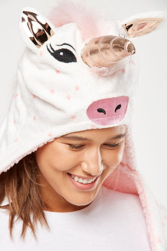 Novelty Hooded Unicorn Blanket, MAJESTIC UNICORN