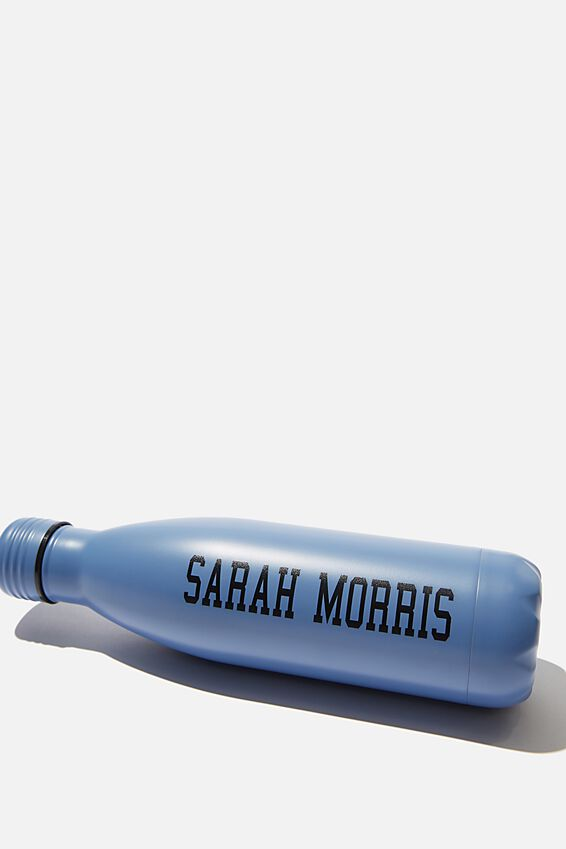 Personalized Metal Drink Bottle, BLUE GREY