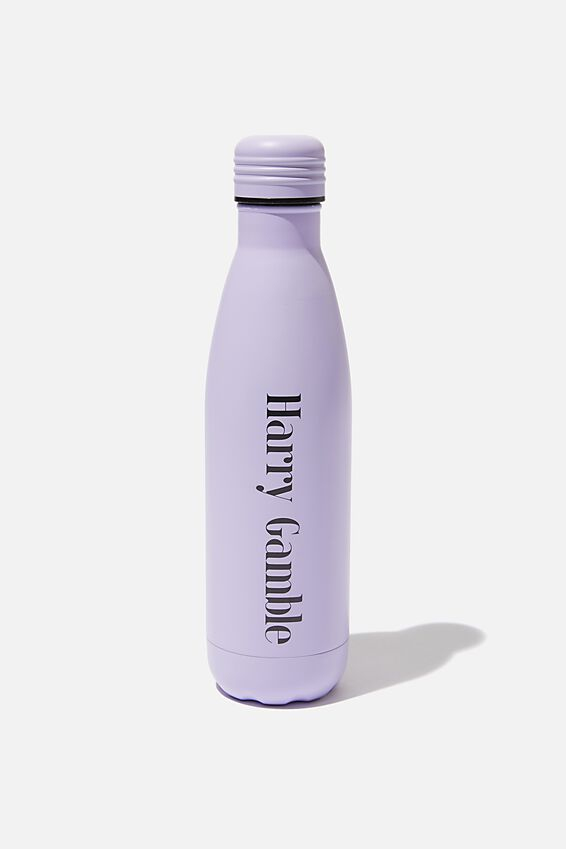 Personalized Metal Drink Bottle, LILAC