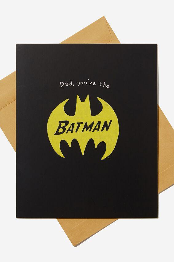 Batman Fathers Day Card, LCN WB BATMAN LOGO