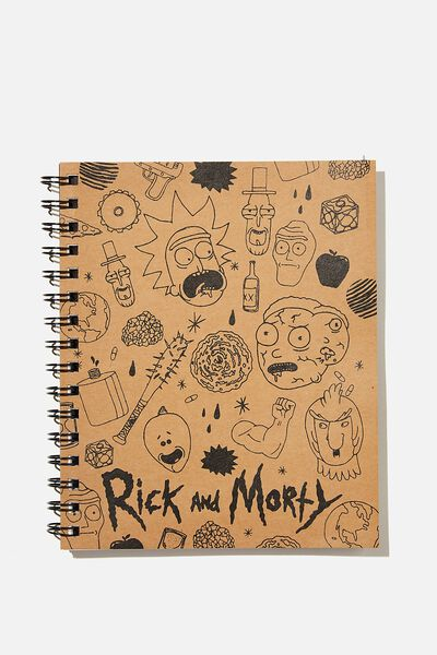 A5 Campus Notebook Recycled, LCN RN CRAFT ILLUSTRATIONS RICK & MORTY
