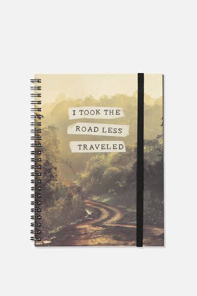 Small Spinout Notebook - V, ROAD LESS TRAVELLED