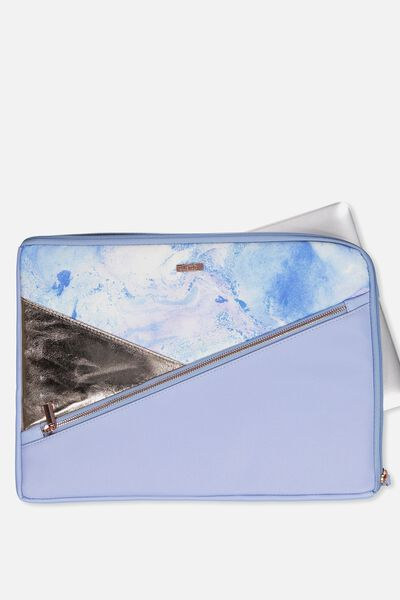 Premium Laptop Case 15 Inch, BLUE MARBLE