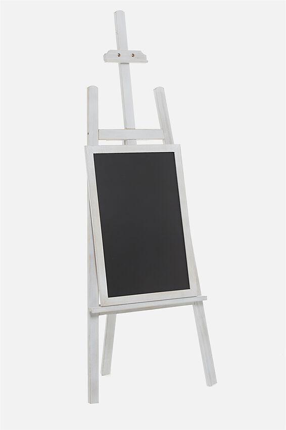 Easel & Chalkboard, WHITE WASH