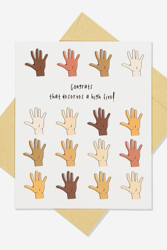 Congratulations Card, MULTI HANDS