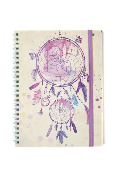 A5 Spinout Notebook - 120 Pages, FEATHER DREAMCATCHER