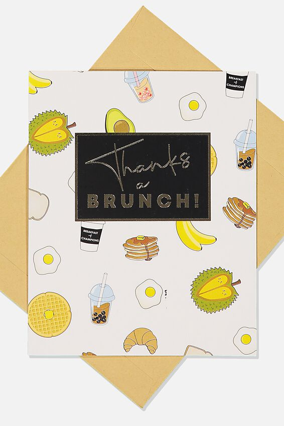 Thank You Card, THANKS A BRUNCH