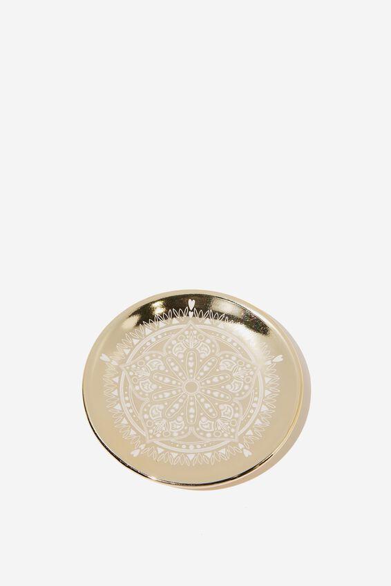Small Trinket Tray, GOLD MANDALA