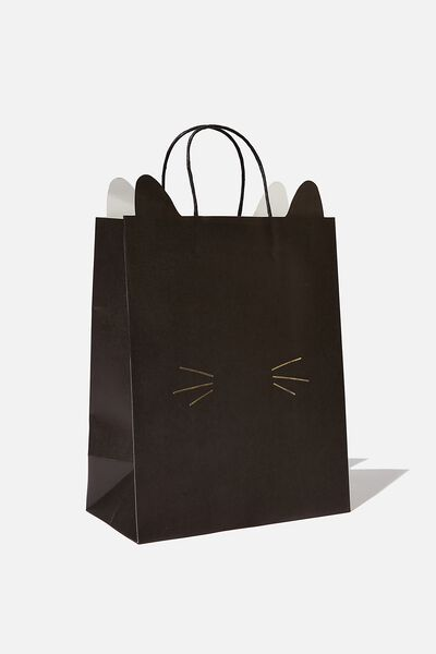 Novelty Stuff It Gift Bag Medium, BLACK CAT FACE