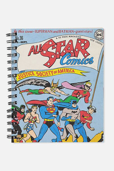Medium Campus Notebook - 240 Pages, LCN DC ALL STARS