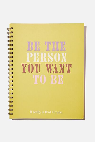 A4 Campus Notebook Recycled, CITRINE BE THE PERSON YOU WANT TO BE