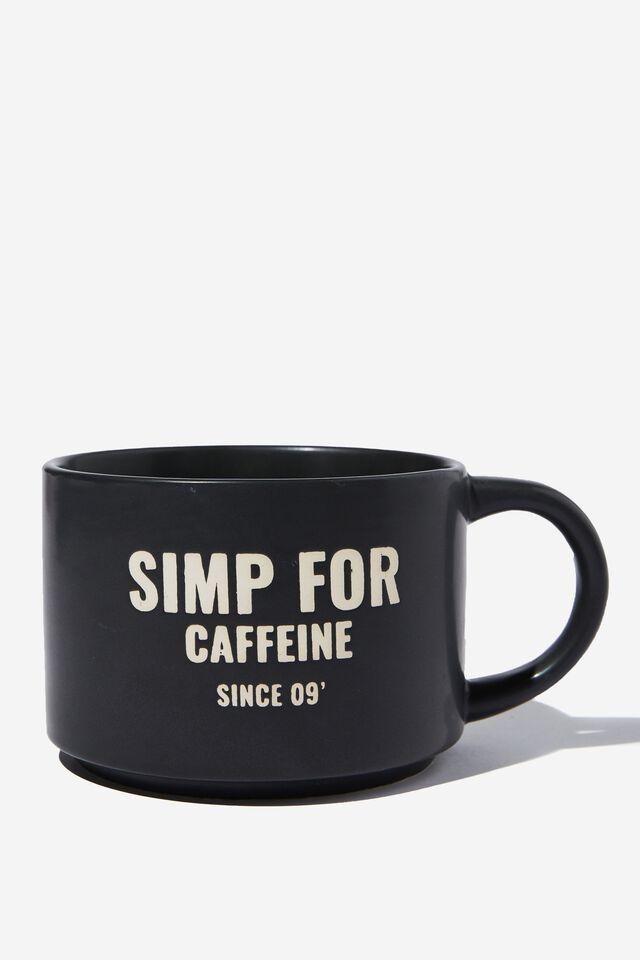 Big Hit Mug, SIMP FOR CAFFEINE