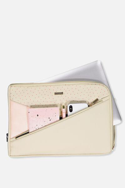 Premium Laptop Case 13 Inch, NUDE DITSY
