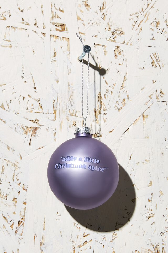 Small Glass Christmas Ornament, CHRISTMAS SPICE BAUBLE