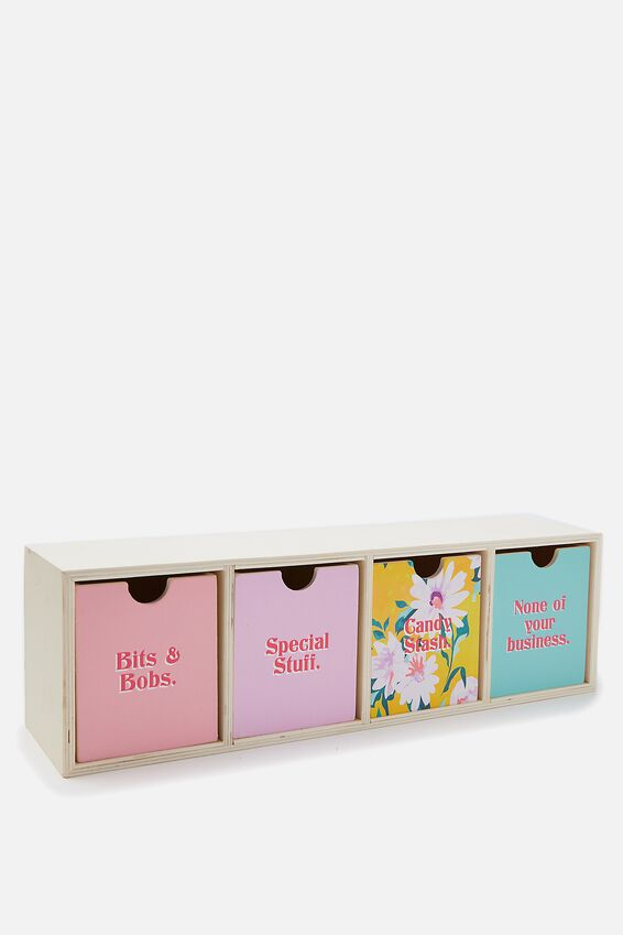 Quick Desk Drawer Storage, FLORAL PATCHWORK