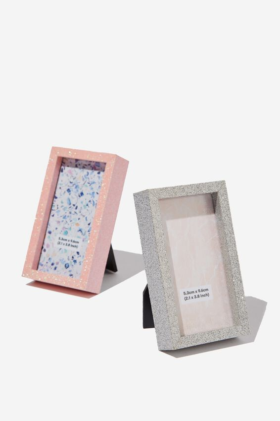Mini Frame Pack, SILVER & PINK