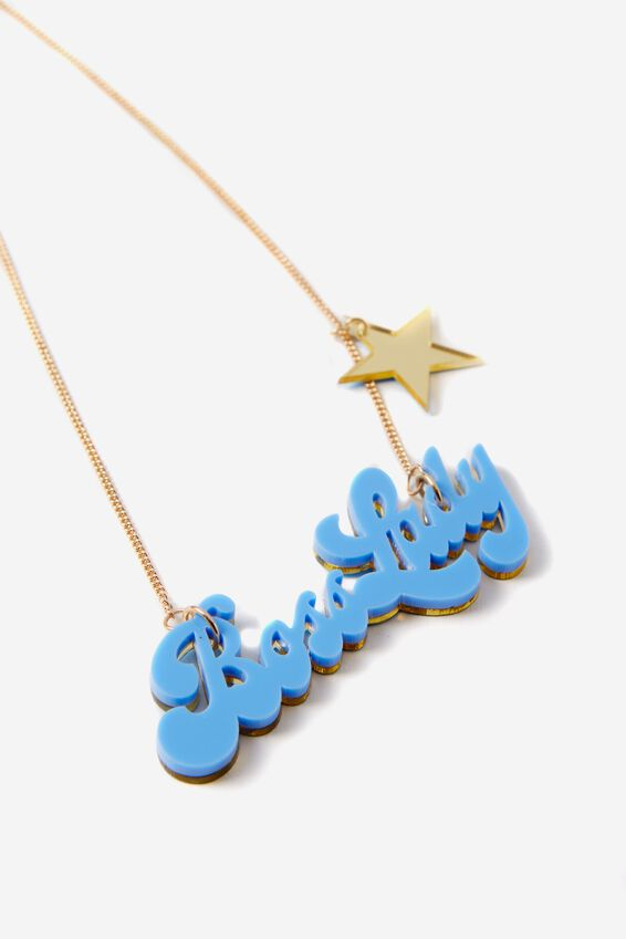 Premium Novelty Necklace, BOSS LADY
