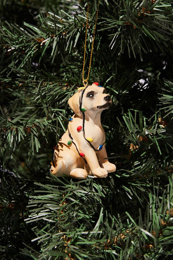 Resin Christmas Ornament, LABRADOR IN LIGHTS
