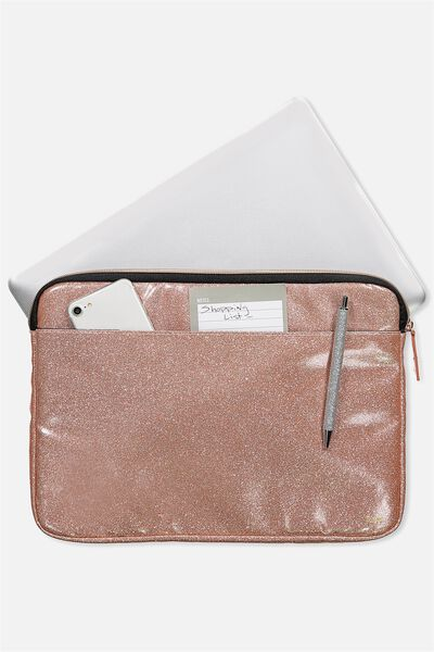 Core Laptop Cover 13 Inch, ROSE GOLD GLITTER