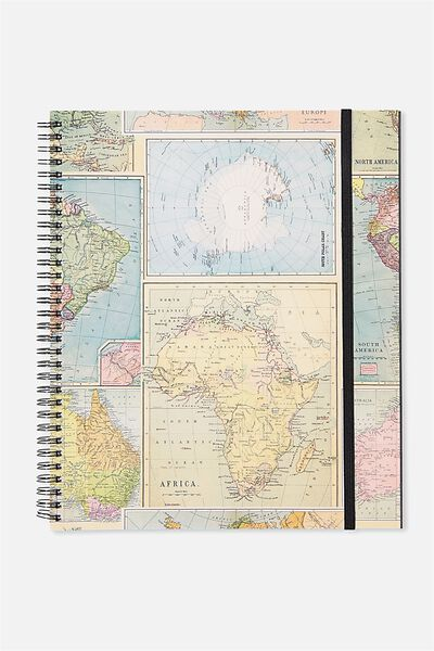 College Ruled Spinout Notebook V, MAP GRID