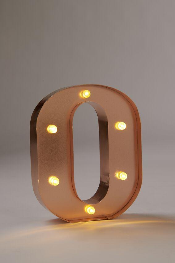 Marquee Letter Lights Premium 6.3inch Midi, ROSE GOLD O
