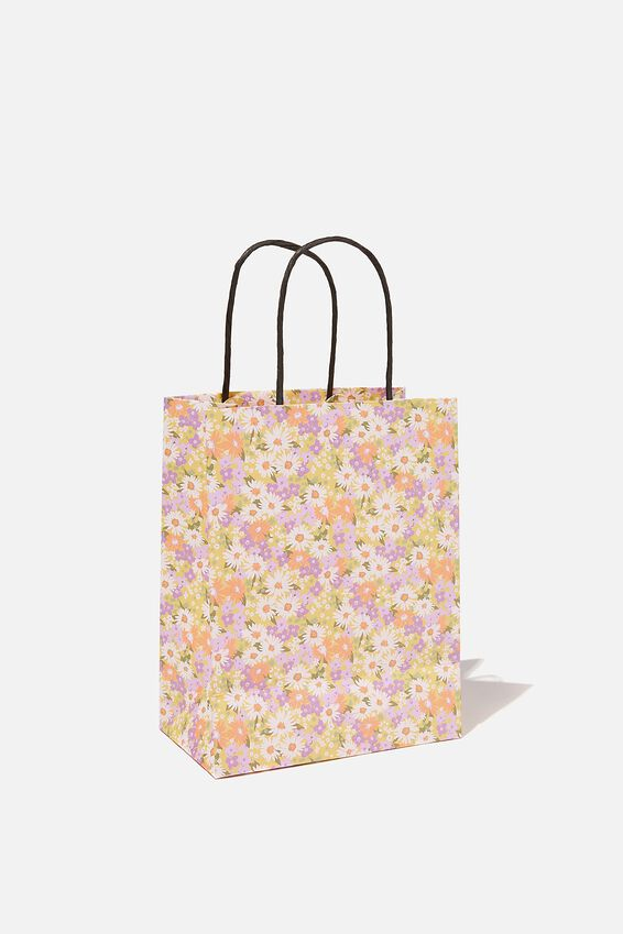 Get Stuffed Gift Bag - Small, DITSY 70S PASTEL FLORAL