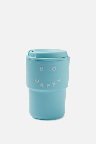 Reuse Me Coffee Cup, BE HAPPY