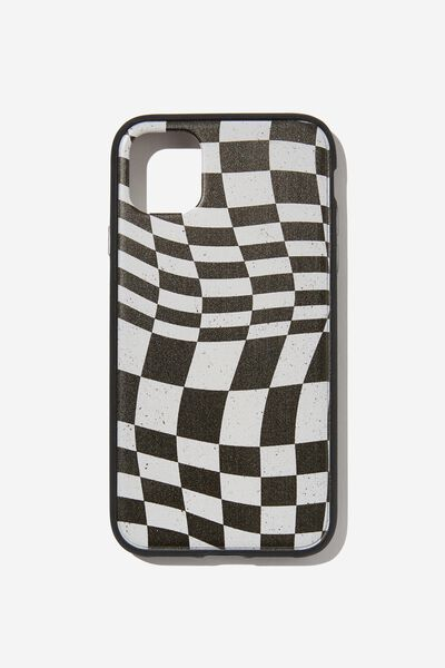 Protective Phone Case iPhone 11, WARPED CHECKERBOARD